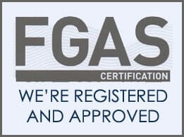 FGAS Certification - We're Registered and Approved - download our certficiate