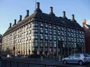 Portcullis House - chimneys assist in the cooling process